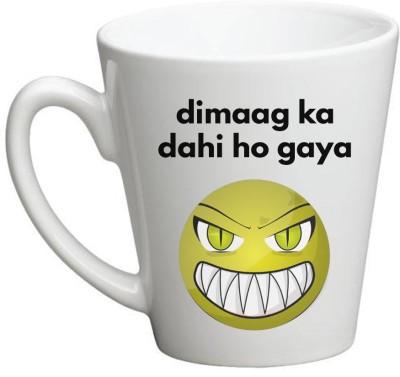 Huppme Dimag Ka Dahi Hogya Conical Ceramic Mug