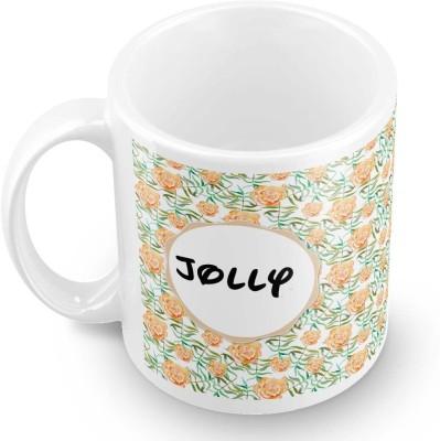 posterchacha Jolly Floral Design Name  Ceramic Mug