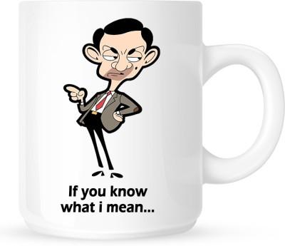 Huppme Mr Bean Naughty White  Ceramic Mug