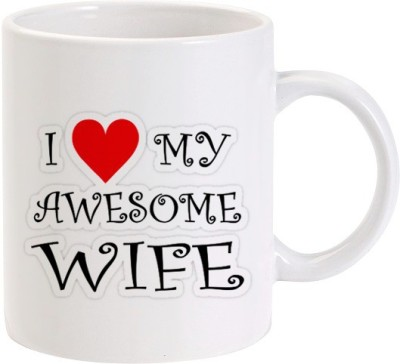 Lolprint I Love my Awesome Wife Ceramic Mug