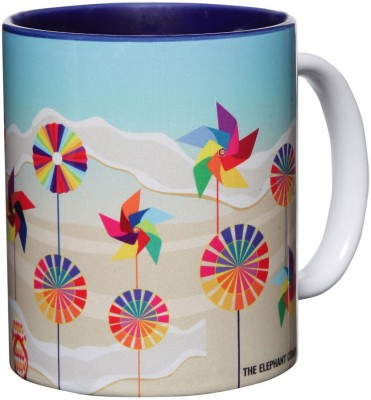 The Elephant Company Pin Wheels Ceramic Mug