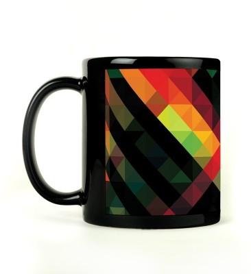 Rockmantra Pyramid Design Ceramic Mug
