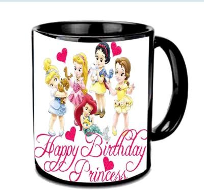 Jiya Creation1 Happy Birthday Princess Multicolor Ceramic Mug