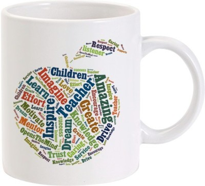 Lolprint Typo Apple Teachers Day Ceramic Mug