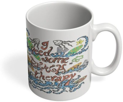 PosterGuy Beach Therapy Beach, Surf, Waves, Shells, Sand, Sea, Boats, Wild, Waves,Beach Therapy Ceramic Mug
