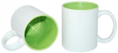 CreativesKart Parrot Green Inside Ceramic Super Saver Ceramic Mug