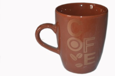 MGPLifestyle COFE Printed Coffee  in Chocolate Brown Color Ceramic Mug