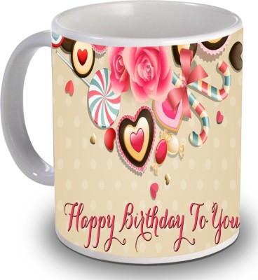 Print Helllo Happy Birthday R133 Ceramic Mug