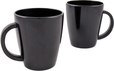 Hi Luxe Solid Clr Melamine 43052 Solid - Black Melamine Mug