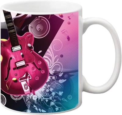 ezyPRNT Colourful Guitar Ceramic Mug