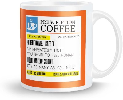 posterchacha PersonalizedPrescription Tea And Coffee  For Patient Name Geegee For Gift And Self Use Ceramic Mug