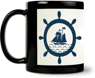AURRA PRINTED BLACK-994 Ceramic Mug