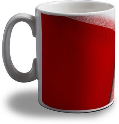 Artifa Red And White Abstract Porcelain, Ceramic Mug