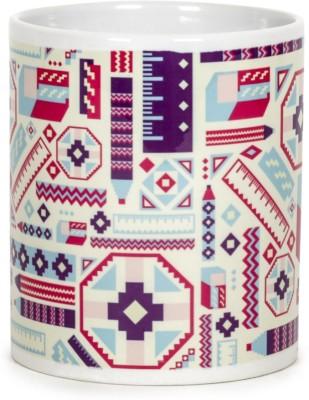 Chumbak Ikat Pencil Ceramic Mug