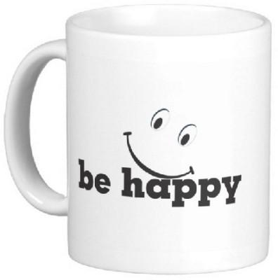 Easyhome Be Happy in Life Ceramic Mug