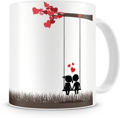 Print Haat Couple Love Birds Ceramic Mug
