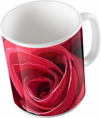 Uptown 18 Red Lovely Rose Ceramic Mug