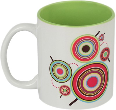 Imagica Sugarbuzz Circle Grn Ceramic Mug