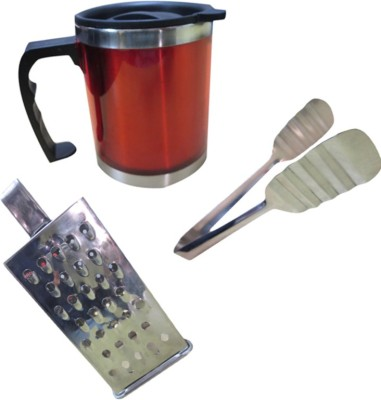 DCS Tong,Grater and Travel Stainless Steel Mug