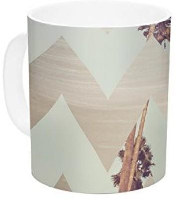 Kess InHouse InHouse Catherine McDonald Oasis Ceramic Coffee , 11 oz, Multicolor Ceramic Mug