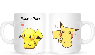 Huppme Gifts Pokemon Pikachu White Ceramic Mug