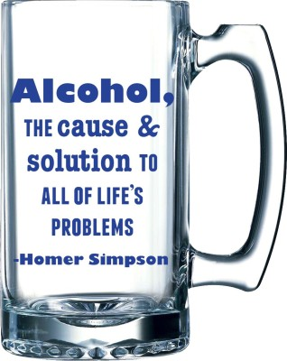 10 Am Alcohol-the Cause Beer Glass Mug