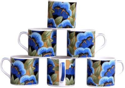 Pearl Floral-6 Cups Set Bone China Mug