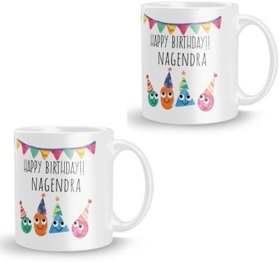 posterchacha Nagendra Personalised Custom Name Happy Birthday Gift Tea And Coffee  For Gift Use Ceramic Mug