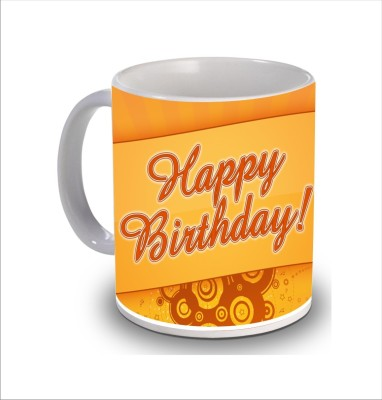 Print Hello Happy Birthday Cake b226 Ceramic Mug