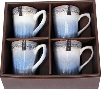 Devnow Stoneware Delicada Four s Set 450ml Porcelain Mug