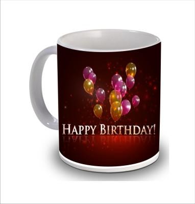 Print Hello Happy Birthday Cake b216 Ceramic Mug