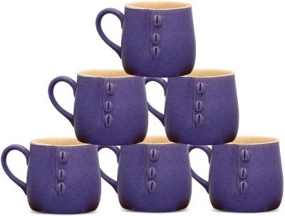 Caffeine Purple Buttoned Cups (2.5d, 3h) Ceramic Mug