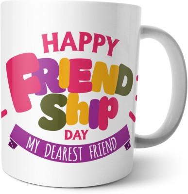 Chiraiyaa Happy Friendship Day - My Dearest friend with pattern colorful Ceramic Mug