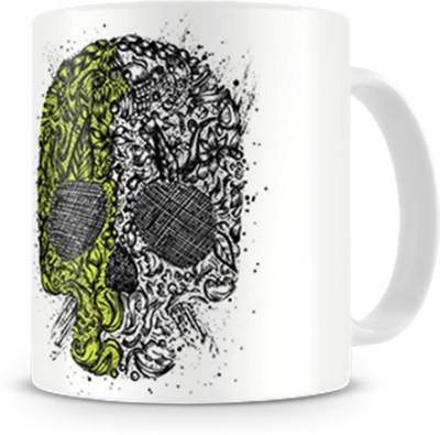 Print Haat Dual Color Skull Ceramic Mug