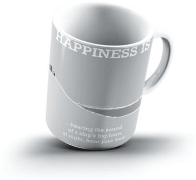Ucard Happiness Is2312 Bone China, Ceramic, Porcelain Mug