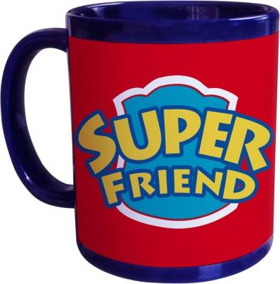 Sajawat Homes Gifts For Super Friend Blue Coffee Ceramic Mug