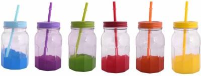VNU Accent Coloured Drinking Jars Set Of 6 Glass Mug