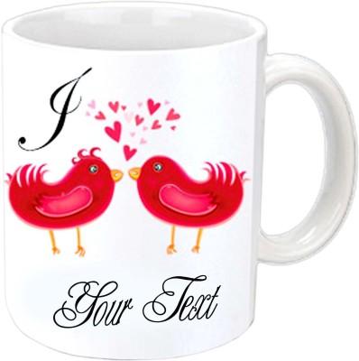 Jiya Creation Love Birds Valentine White  Ceramic Mug