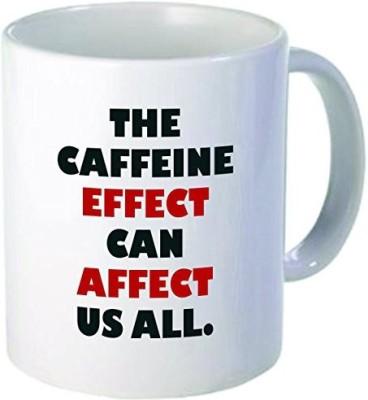 Rikki Knight LLC Knight The Caffeine,S Effect Quote Holiday Style 11 oz Ceramic Coffee  Cup Ceramic Mug