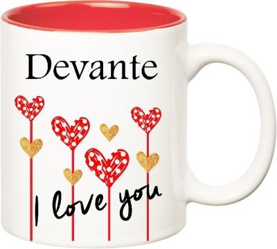 Huppme I Love You Devante Inner Red  (350 ml) Ceramic Mug