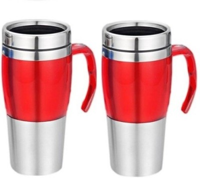 Phoenix Pack of 2 Unique Steel Dual Sipper Type Stainless Steel Mug