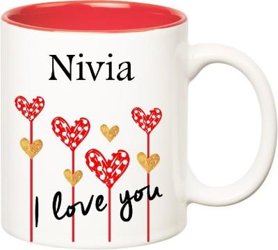 Huppme I Love You Nivia Inner Red  (350 ml) Ceramic Mug