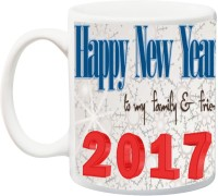 IZOR Gift for New Year And birthday;Mother/Father/Brother/Sister/Wife/Husband /Girlfriend/Boyfriend/Friend;Happy n y To my family & friend printed Cer