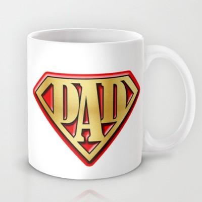 Astrode Super Dad Red And White Ceramic Mug