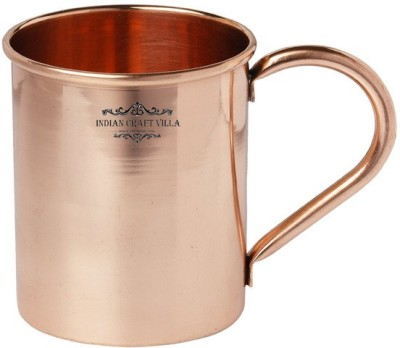 Indian Craft Villa IndianCraftVilla Handmade Moscow Mule Pure Solid Copper Cup  Volume 415 ML For Use Restaurant Ware Bar Ware Beer Hotel Ware Copper Mug