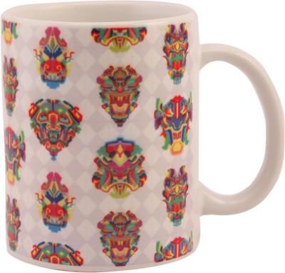 The Purple Sack Mask Ceramic Mug