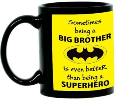 Giftsmate Batman Big Brother Black Ceramic Mug