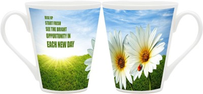 HomeSoGood Rise Up Start Fresh (QTY 2) Ceramic Mug