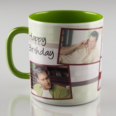 DreamBag Personalized Green Ceramic Mug