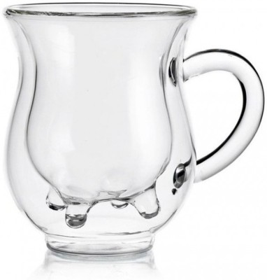 GeekGoodies Milk Moo Double Wall Glass Mug